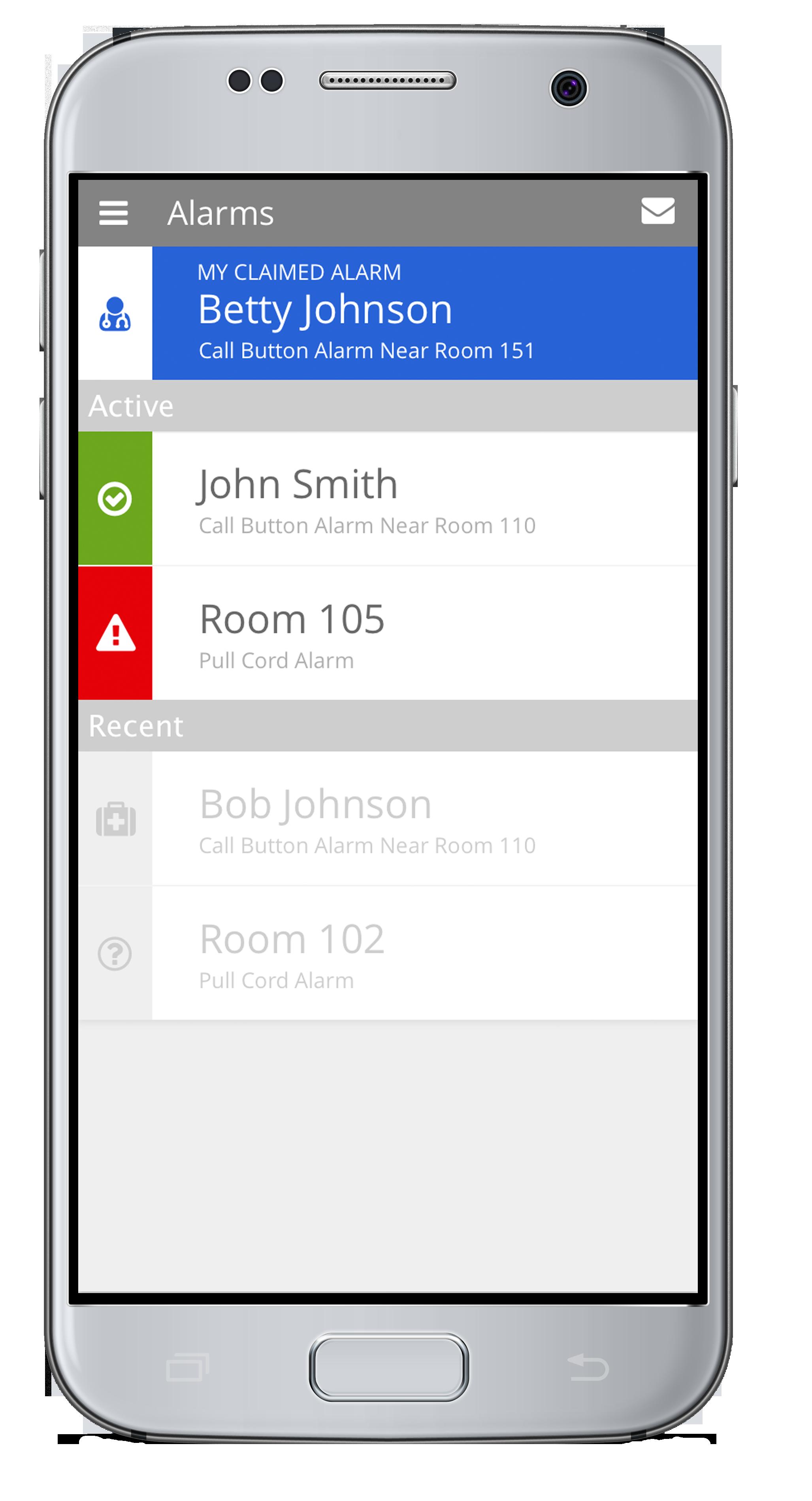 Mobile Smartphone Nurse Call Alert App