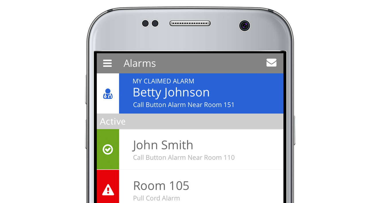 Mobile Phone With Nurse Call Alert App
